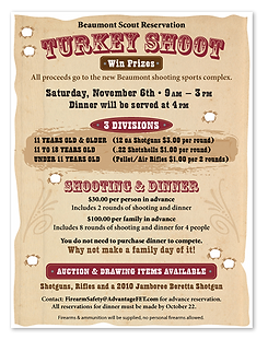 Turkey Shoot Ad Flyer