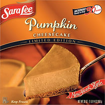 Sara Lee Pumpkin Cheesecake Packaging