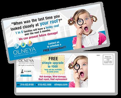 Olneya Girl Postcard