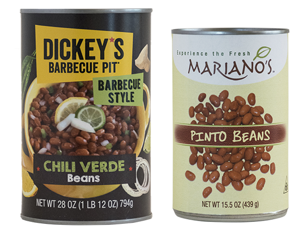 Dickey's_&_Mariano's Bean Labels
