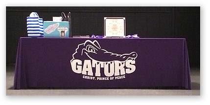 CPOP Gator Logo Tablecloth