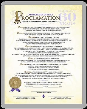 Fr. Bob Proclamation