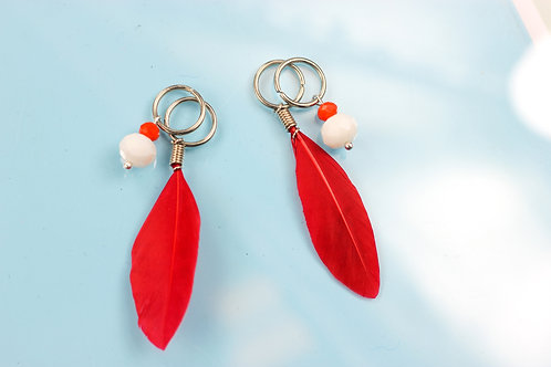 "Charms set ""Red-White"""