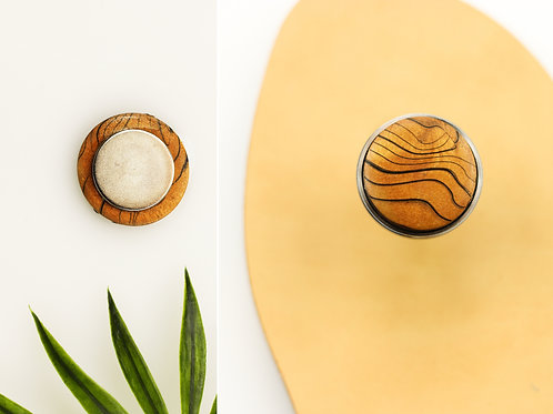 Zebra wood magnetic buttons