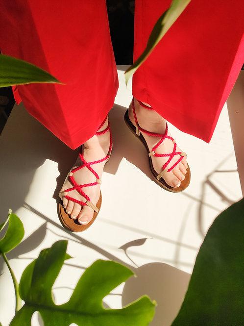 Midi Set: Leather soles + 5 strings