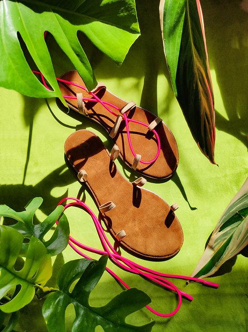 Mini Set: Leather soles + 2 strings