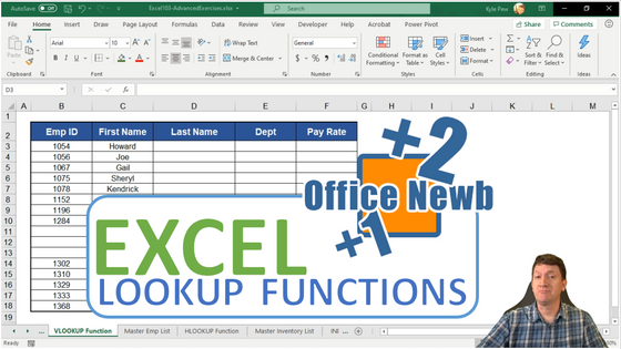 Excel LOOKUP Functions