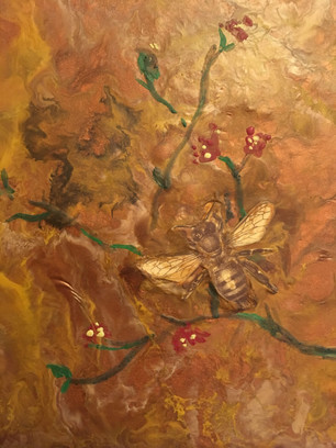 Bee Encaustic in Bronze