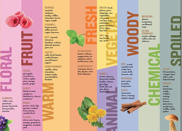 Honey Aroma and Flavor Chart