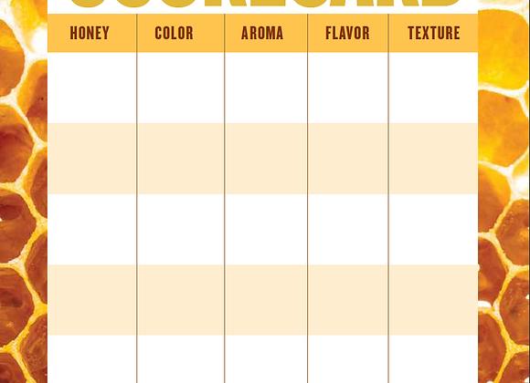 Honey Connoisseur Tasting Scorecard