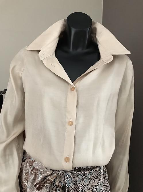 Klassieke glamour blouse in ecru