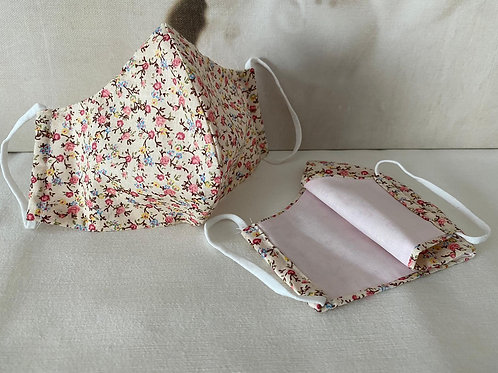 Mondkapje 'Pink flowers'
