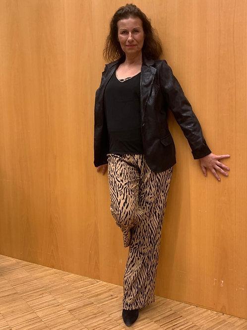 Losse broek met tijgerprint