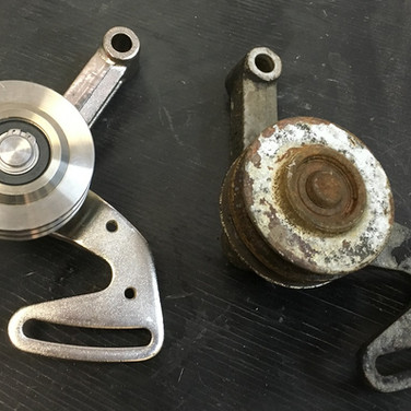 Shadow Jockey Pulley before and after.
