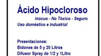 ÁCIDO HIPOCLOROSO 1 LITRO