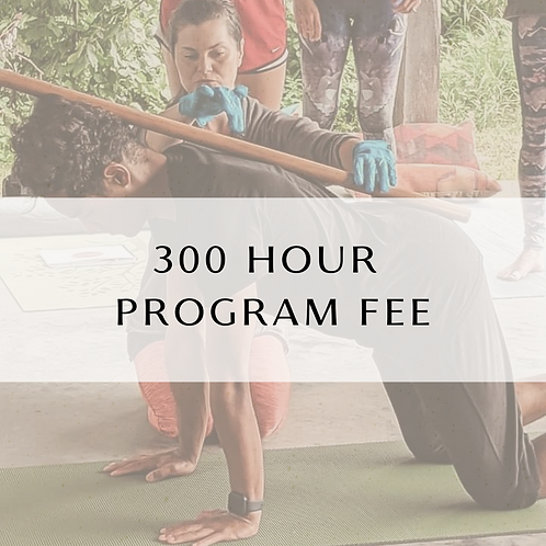 300 Hour Program Fee
