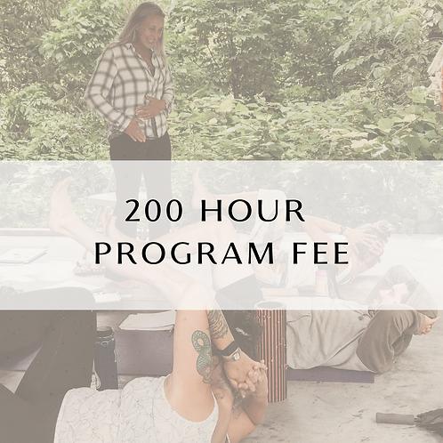 200 Hour Program Fee