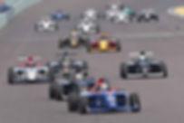 Austin Kaszuba races at Homestead-Miami Speedway