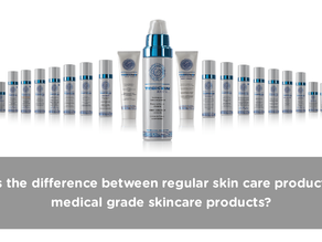 What is the difference between regular skin care products and medical grade skin care?
