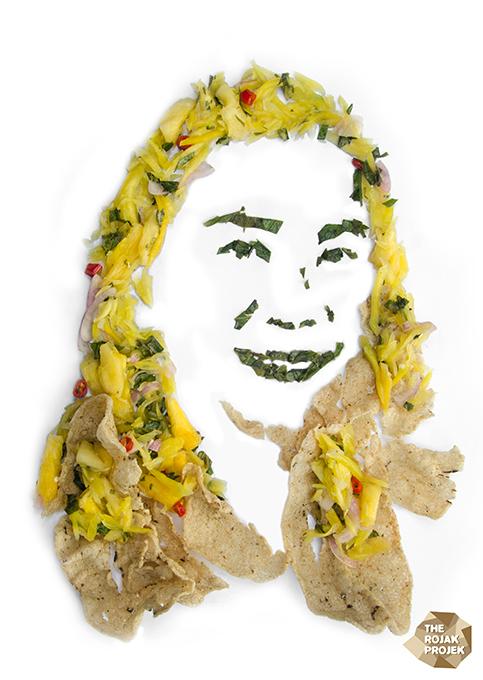 Kerabu Pauh with Keropok Keping