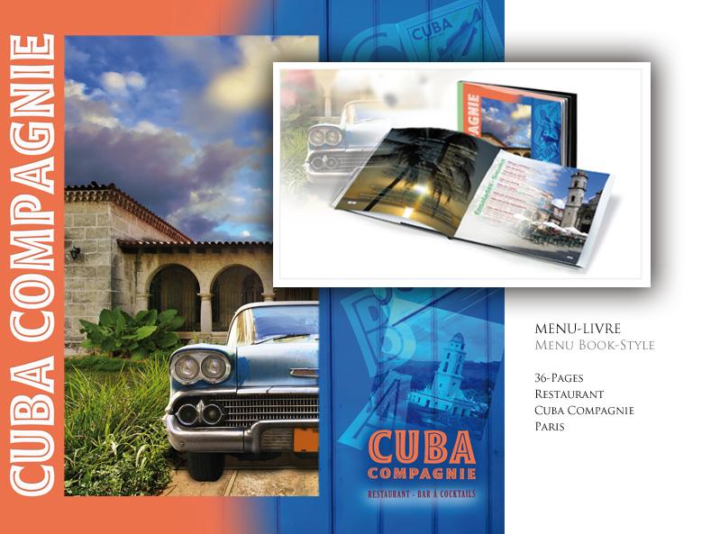 MENU BOOK CUBA COMPAGNIE