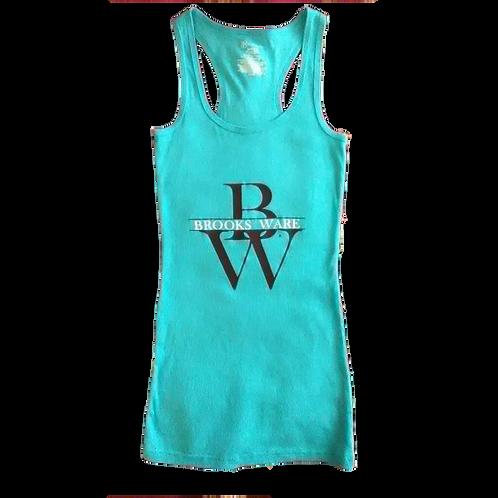 Women'sTurquoise Premium Cut TankTop
