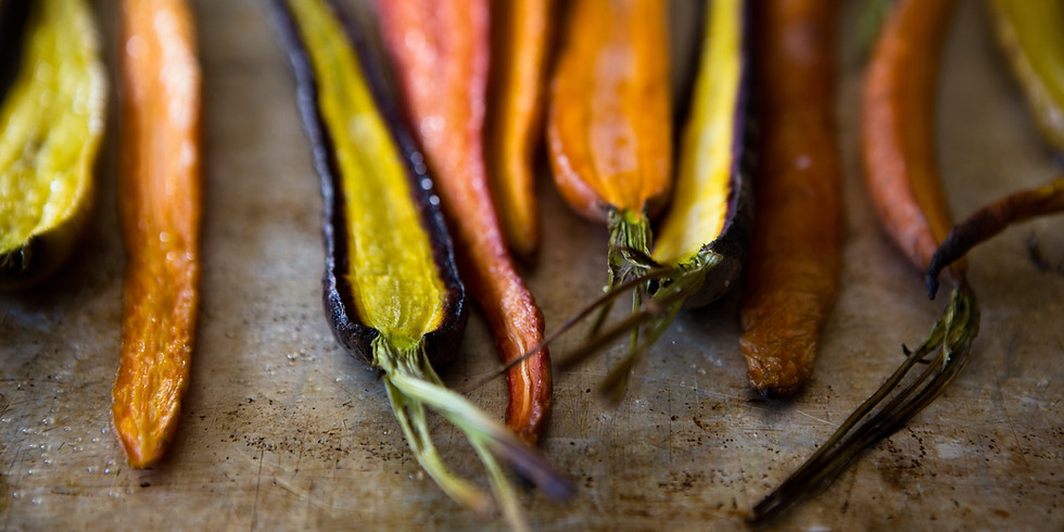 iCook: DROP IN - Healthy Snacks - Roasted Carrots and Buggies on a Log