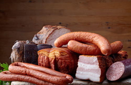 Smoked sausages & meat