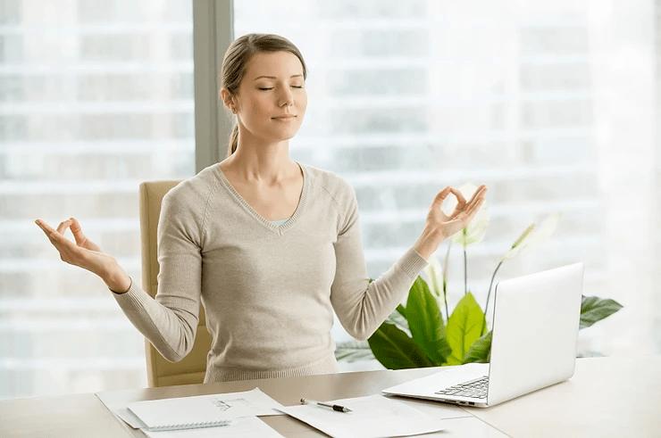 Meditation  reduces stress