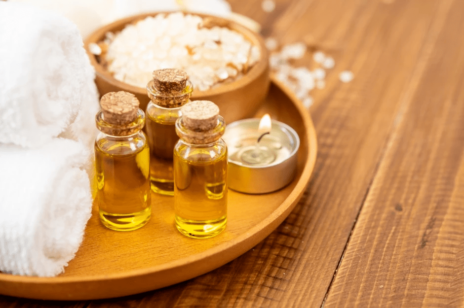 oils used during massages such as Abhyanga massage