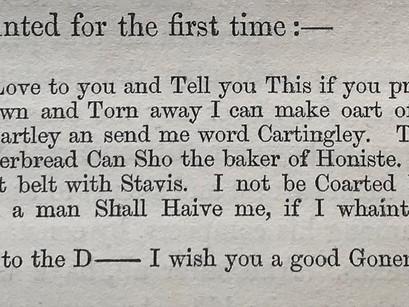 Chatterton's Correspondence