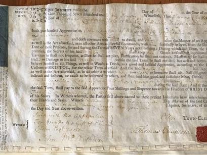 Chatterton's Apprenticeship Indentures