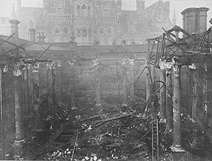 Birmingham Central Library Destroyed by Fire 1879