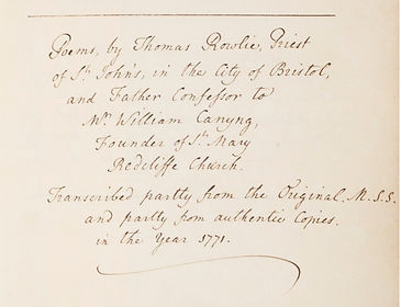 Transcript Chatterton Poems