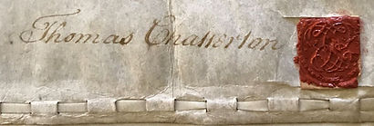 Chatterton's Signature from Apprenticeship Indentures