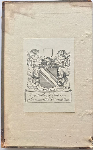 1803 Fortescue smaller bookplate.JPG