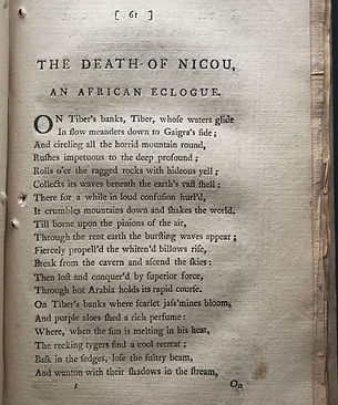 the death nicou an african eclogue by thomas chatterton