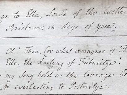 The ThomasChatterton Manuscript Project