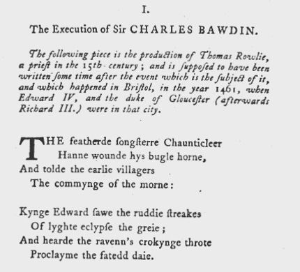 Early Printing Bristows Tragedy