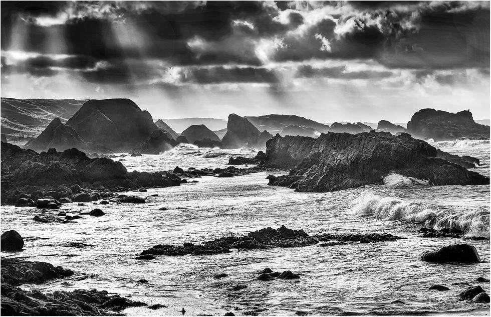 MONO - Evenig Light over Ballintoy by Stephen McWilliams (9 marks)