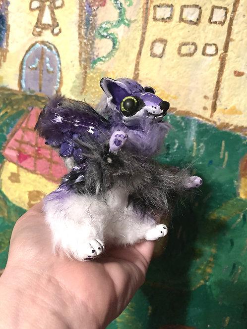 OOAK ART DOLL - Lavender Dream Mouse