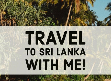 Travel To Sri Lanka with Me!