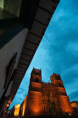 Anochecer Catedral Barichara Santander