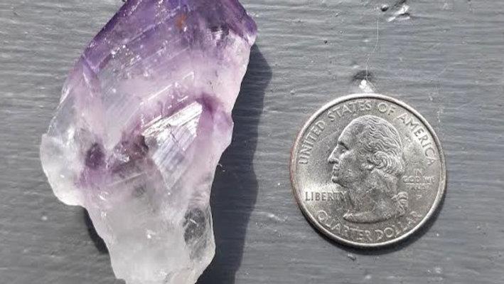 CUSTOM WRAP - Raw Amethyst  Crystal