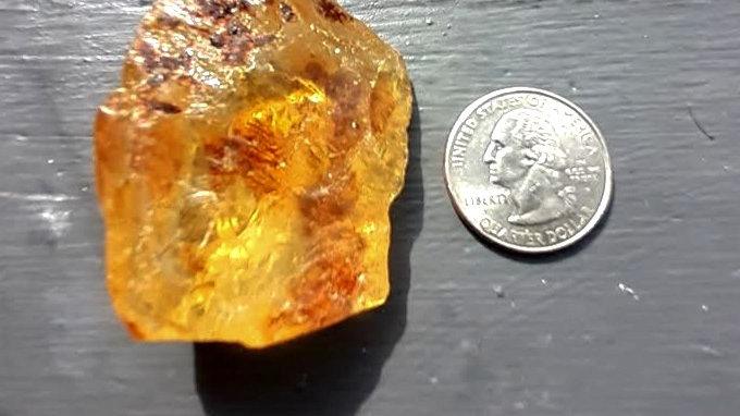CUSTOM WRAP - Raw Amber Crystal