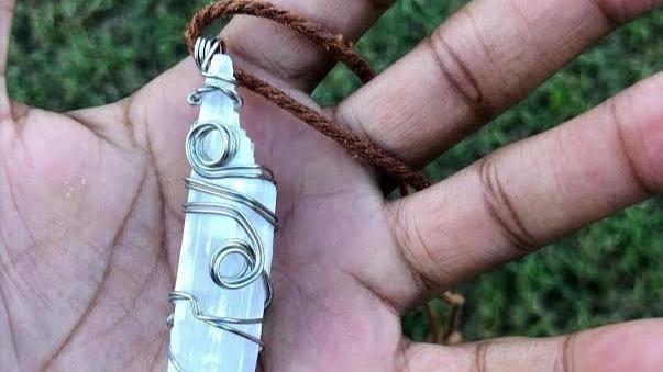 Selenite Necklace