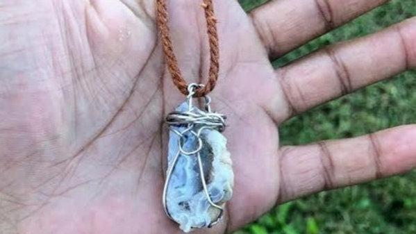 Raw Oco Geode Necklace