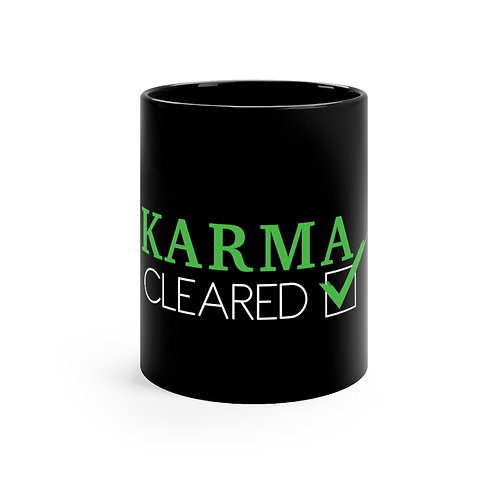 Karma Cleared Black mug 11oz