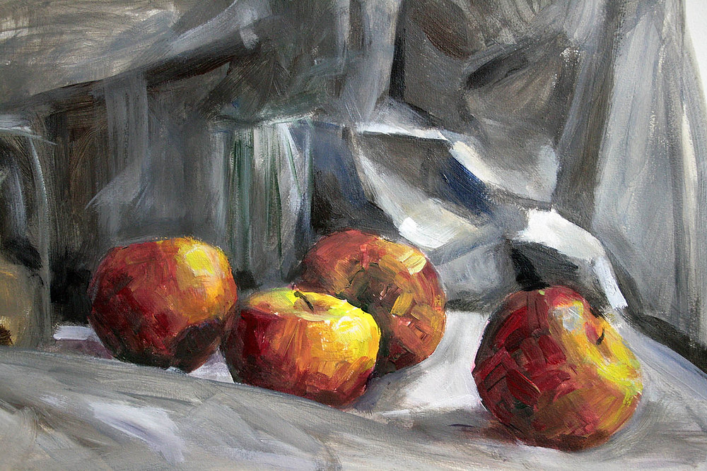 4 pommes rouges