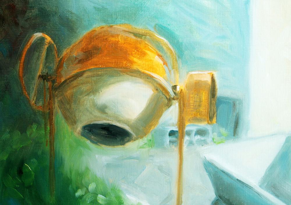 bétonnière peinte à l'huile